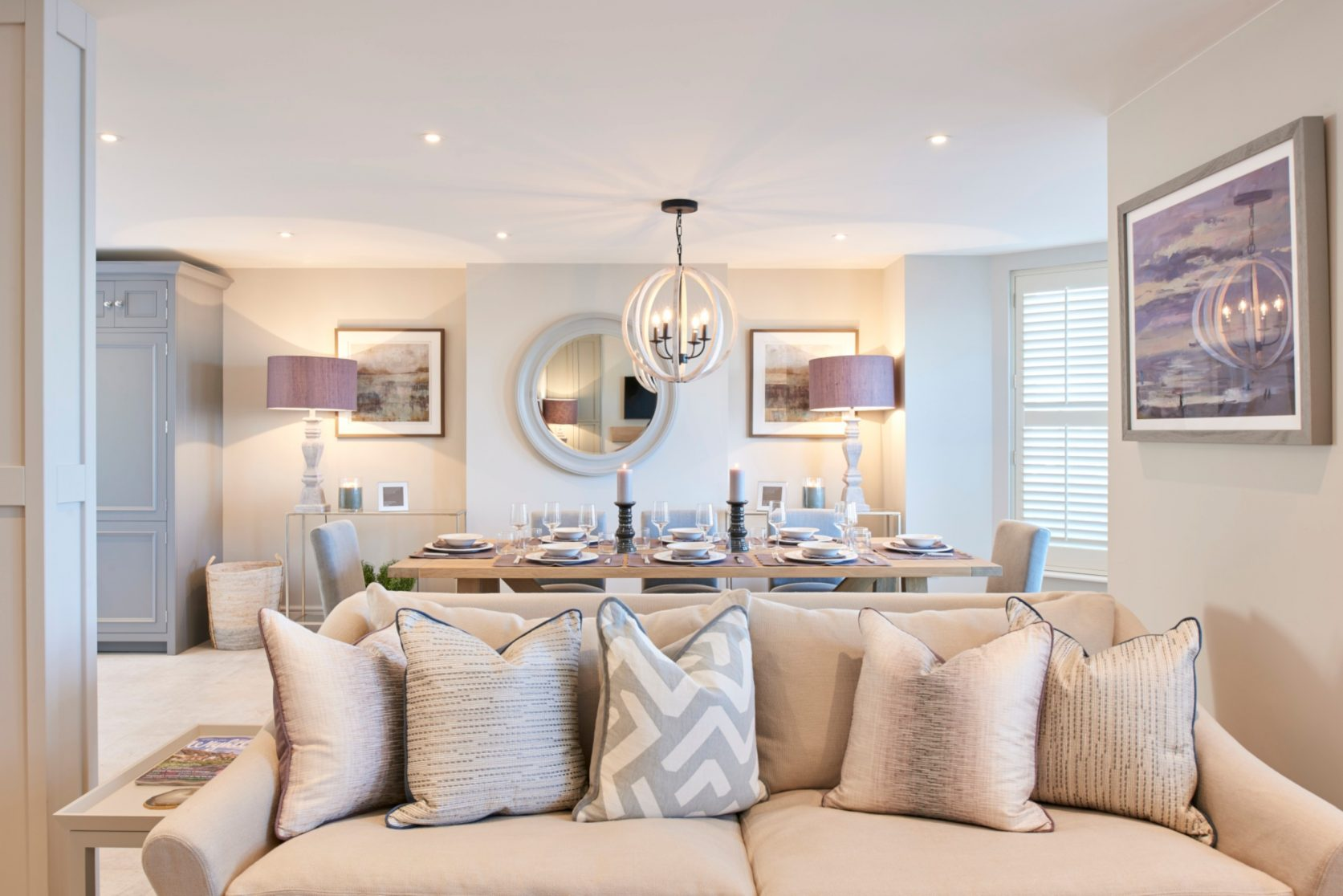 Seaside Colours For Lounge Dining Room Interior Design Claire Garner Interiors