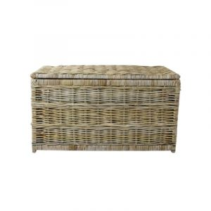 Kentmere Linen Chest / Grey toned rattan chest
