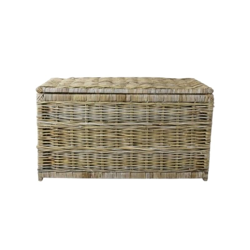 Kentmere Linen Chest / Grey toned rattan chest