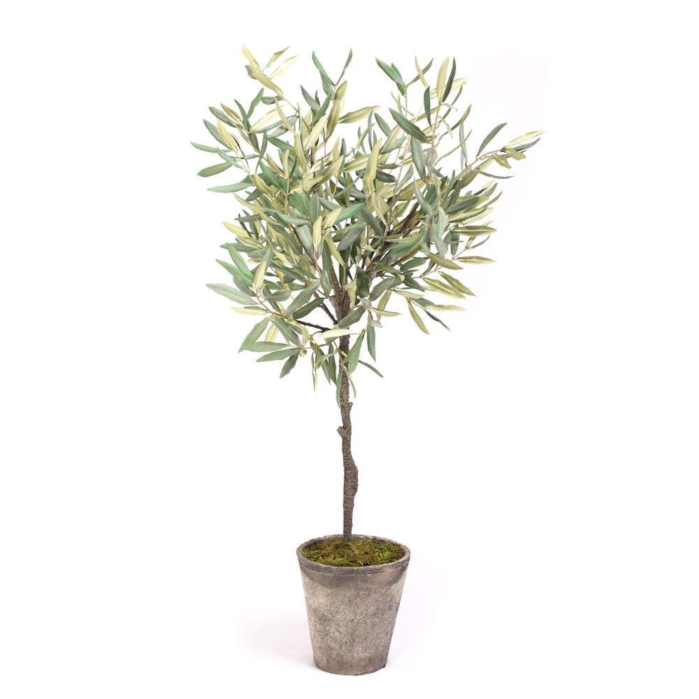 Large Faux Olive Tree in Pot