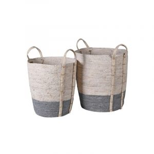 Melton Baskets / Grey and white seagrass baskets