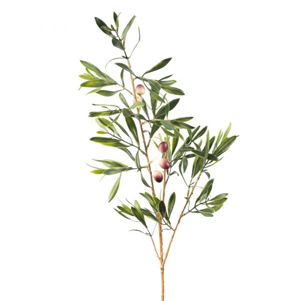 Artificial Olive Foliage Stem