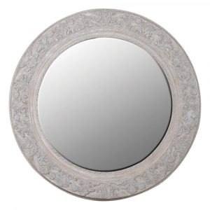 Parkham Large Detailed Round Mirror