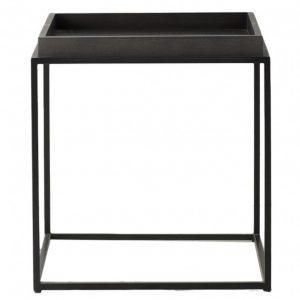Ranmoor Black Wood and Metal Side Table
