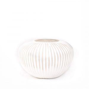 Risborough White Ribbed Vase