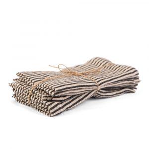 Saxmundham Striped Linen Napkin Set of 4