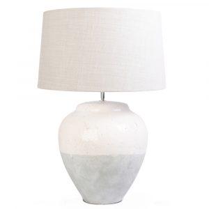 Sennen Concrete Glazed Lamp Base