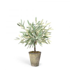 Small Faux Olive Tree In Pot