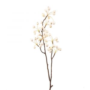 Faux Flower Snowberries Stem