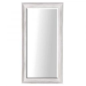 Thame White Floor Standing Mirror