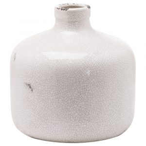 Colyton Vase - White, Cracked Effect