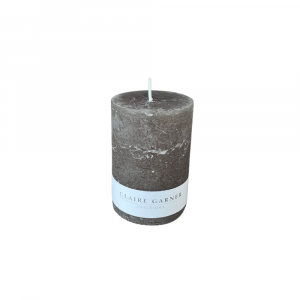 Rustic Olive Short Pillar Candle