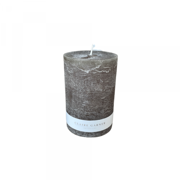 Rustic Olive Wide Pillar Candle